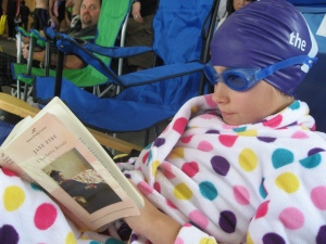 Reading at the Swim Meet
